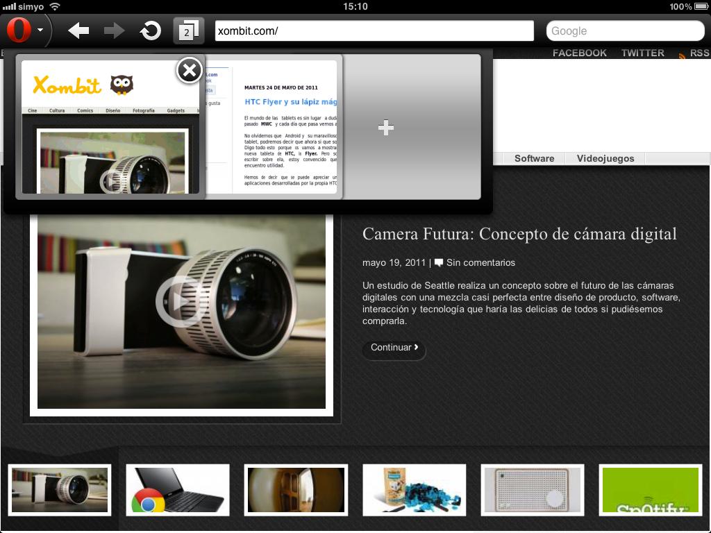 Opera Mini disponible para iPad