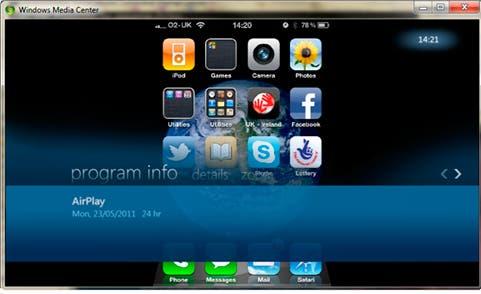 AirPlay ahora permite reproducir contenidos en Windows Media Center