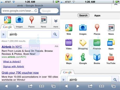 Google tiene lista una nueva versión de su página de búsqueda para iOS