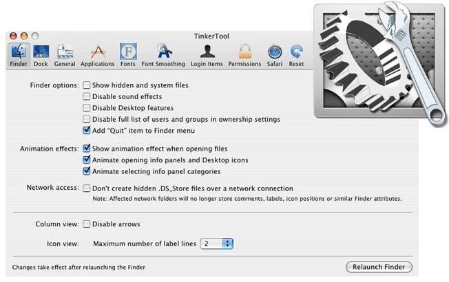 TinkerTool, una aplicación para olvidarnos (en parte) del Terminal.