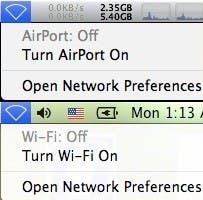 """La denominación AirPort pasa a ser """"Wi-Fi"""" en el nuevo OS X Lion"""