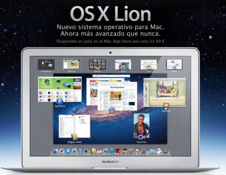 OSX Lion en Julio por 23,99€