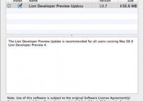 Actualizacion de OS X Lion Preview 4