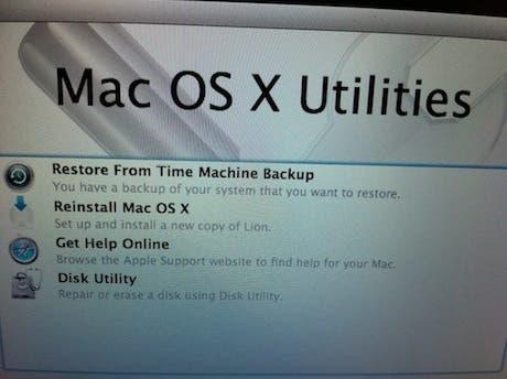 Mac OS X Lion: ¿qué haremos en caso de fallo completo del sistema?