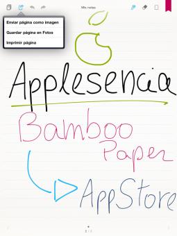 Bamboo Paper, la aplicación de notas de Wacom