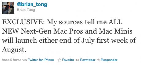 Mac Pro y Mac Mini, actualización inminente