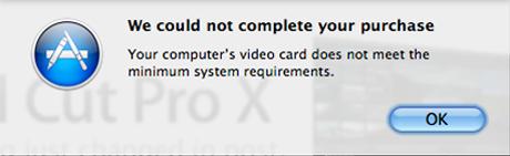 Final Cut Pro X no compatible con la primera generación de Mac Pro