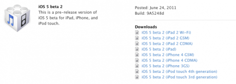 Apple distribuye iOS 5 e iTunes 10.5 beta 2 a sus desarrolladores