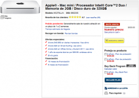 Mac Mini en Best Buy