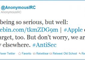 AnonymousIRC AntiSec Apple