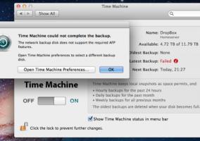 Time Machine OS X Lion