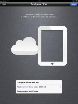 Restaurando una copia de seguridad desde iCloud
