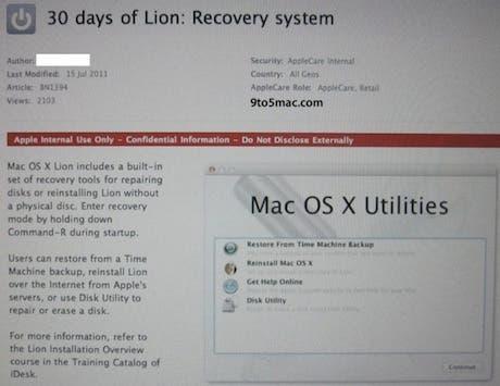 Lion ofrece la posibilidad de instalarse a través de Internet
