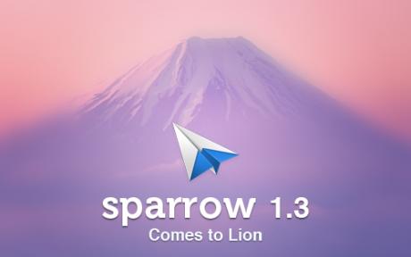 Sparrow 1.3 para Lion y más novedades