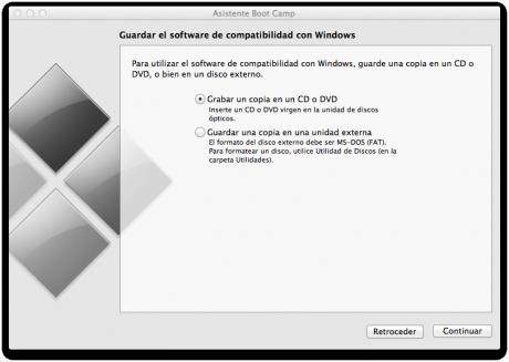 Donde guardar el software de compatibilidad