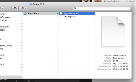 Sincronizar Angry Birds de iPhone con Mac