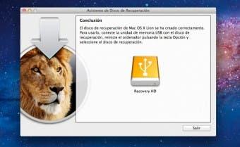Apple lanza una aplicación de recuperación de OS X Lion para discos externos