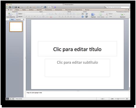 PowerPoint para Mac