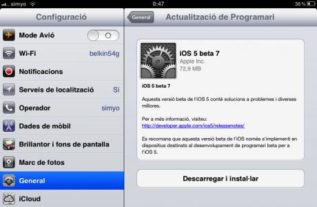 La larga trayectoria de iOS5