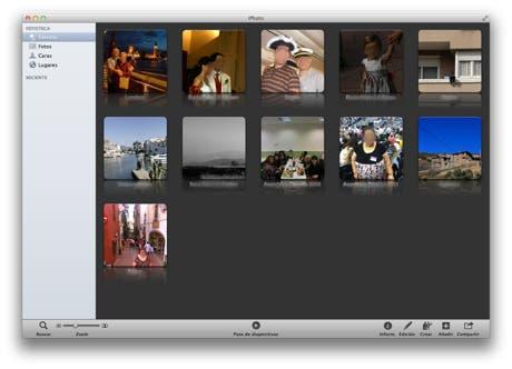 Eventos en iPhoto