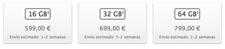 Precios en españa del iPhone 4S