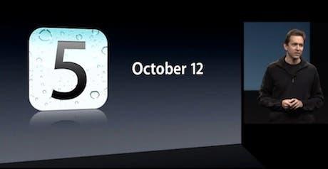 Apple lanza públicamente iOS 5
