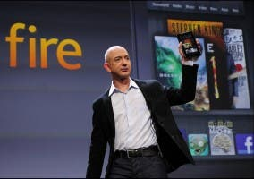 Amazon Kindle Fire presentado por Jeff Bezos