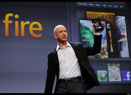 Amazon Kindle Fire presentado por Jeff Bezos