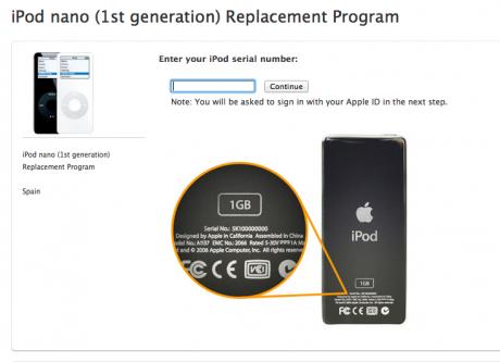 Apple reemplaza tu iPod nano de primera generación