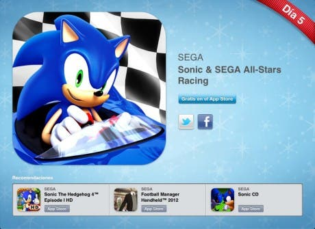 12 días 12 regalos: Sonic & SEGA All-Stars Racing