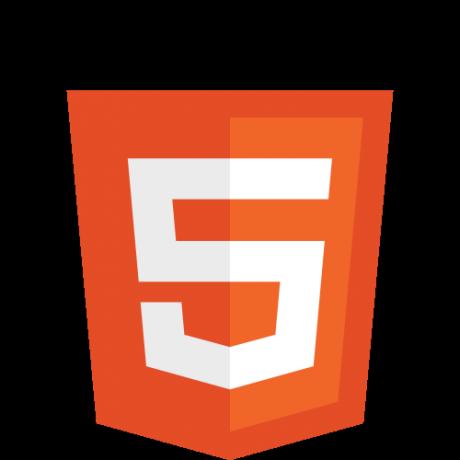 Logo oficial de HTML5 del W3C