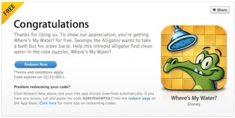 Consigue el juego '¿Dónde está mi agua?' para iOS gratuitamente