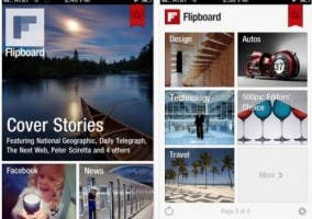 Capturas de pantalla de Flipboard para iPhone