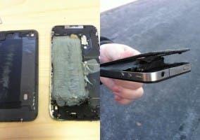 iPhone 4 explosionado