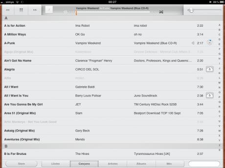 iTunes Match en un iPad