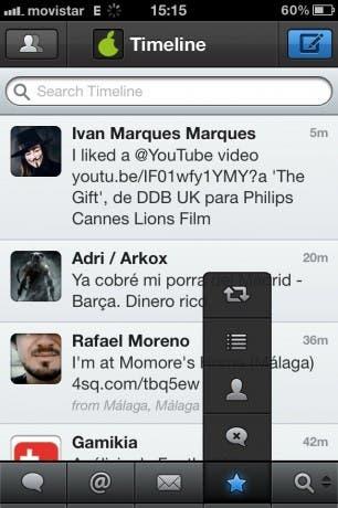 Personalización de las pestañas de Tweetbot