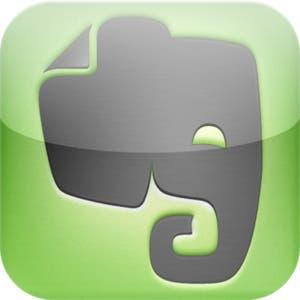 Icono de la aplicación Evernote para iPhone