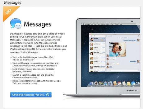 Messages, el cliente de escritorio de iMessage