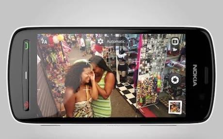 Aplicación de cámara en el Nokia 808 PureView