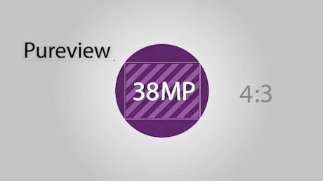 El sensor PureView tiene una resolución de 38MPX en modo 4:3