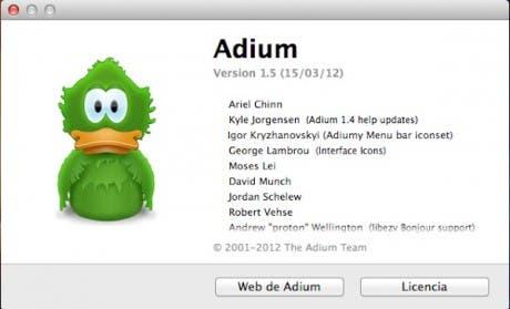 Acerca de adium 1.5