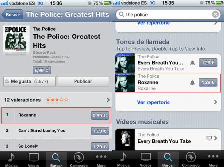 Garageband - The Police precio de la canción y el Tono
