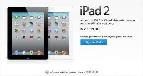 Precio reducido iPad 2