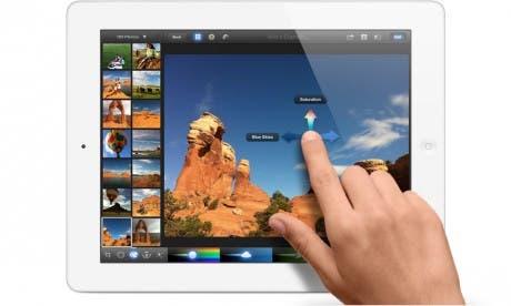 Edición de imágenes con gestos en iPhoto