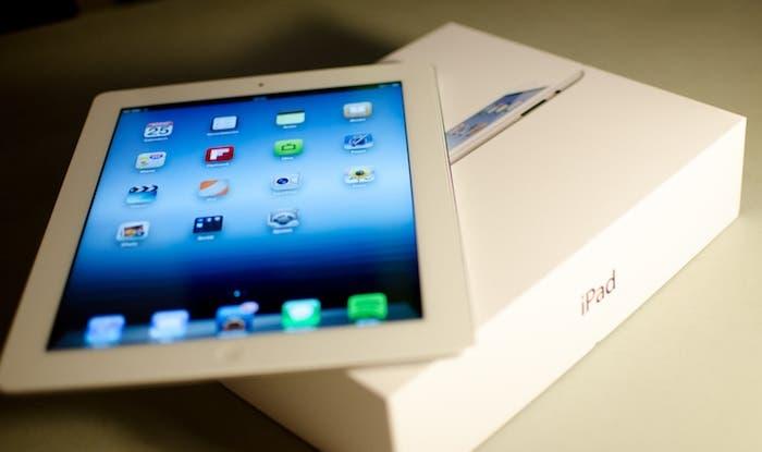 Imagen del Nuevo iPad de color blanco