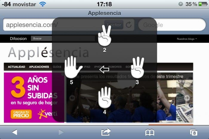 Captura iPhone AssistiveTouch