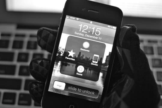 Menú de Assistive Touch del iPhone