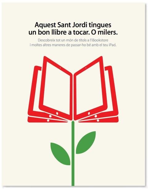 Sant Jordi: Rosas y Ebooks de la mano de Apple