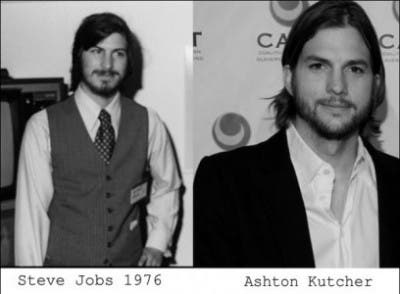 Steve Jobs y Ashton Kutcher parecidos