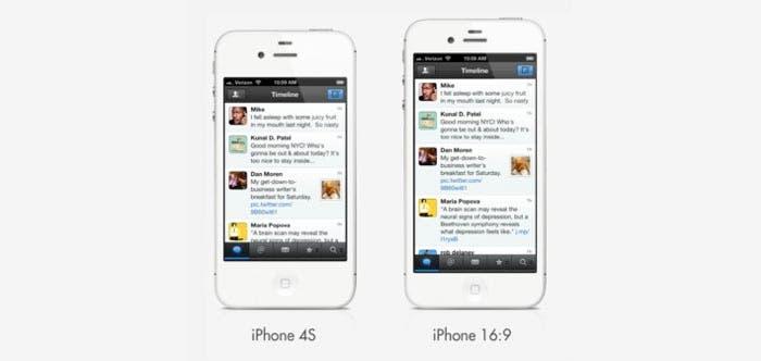 Así sería un iPhone con pantalla panorámica